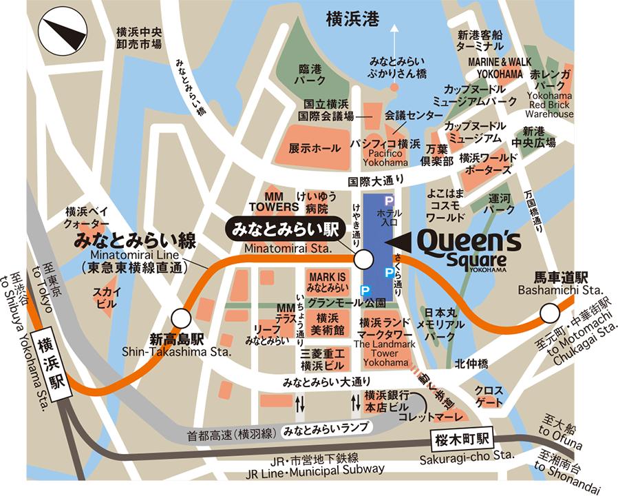クイーンズスクエア地図